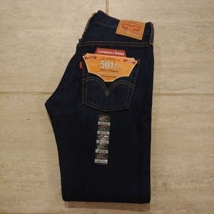 Levi's 501 Button Fly Straight Leg Jeans NWT